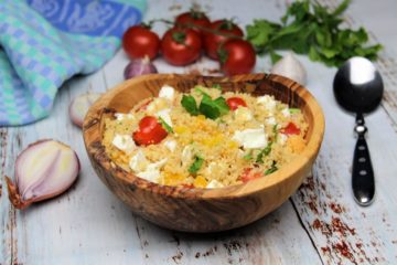 Couscous Salat mit feta - rezept - die frau am grill