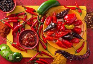 Chilischoten-chilis-chili paste-chili einwecken