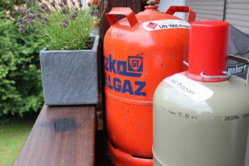 Gasflasche Füllstand - die frau am grill