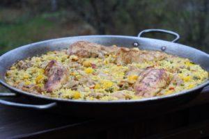 Hähnchen Paella - die frau am Grill