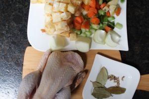 Hühnersuppe Zutaten-die frau am grill-web