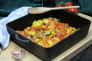 Kartoffelgratin Rezept-Beitragsbild-Die frau am Grill-web