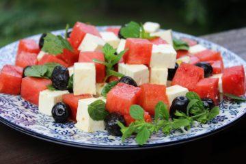 Melone Feta Salat