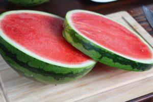Melone in Scheiben geschnitten