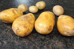 Rohe Kartoffeln ungeschält