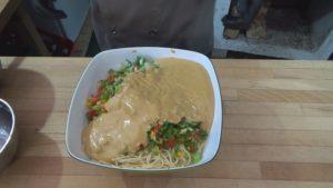 Spaghettisalat-alles in Schüssel-Jan Hendrick Grant-die frau am grill-web
