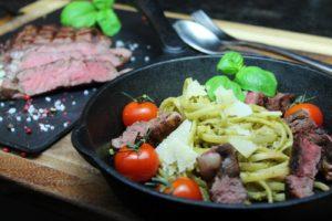 Steak Pasta Rezept - die frau am grill