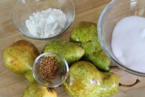 Zutaten Birnenkuchen - die frau am grill