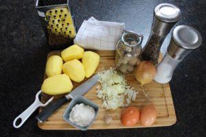 Zutaten Kartoffelpuffer - die frau am grill