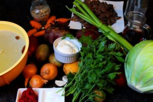 Zutaten für Borschtsch Rezept
