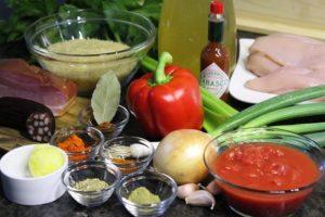 Zutaten für Chicken Jambalaya