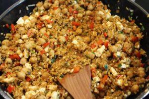 Zutaten für die vegetarisch gefüllte zucchini anbraten