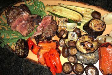 Entrecôte mit gesmoktem Gemüse