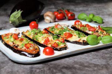 auberginen pizza - rezept - die frau am grill