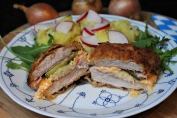 bayerisches cordon bleu - rezept - die frau am grill