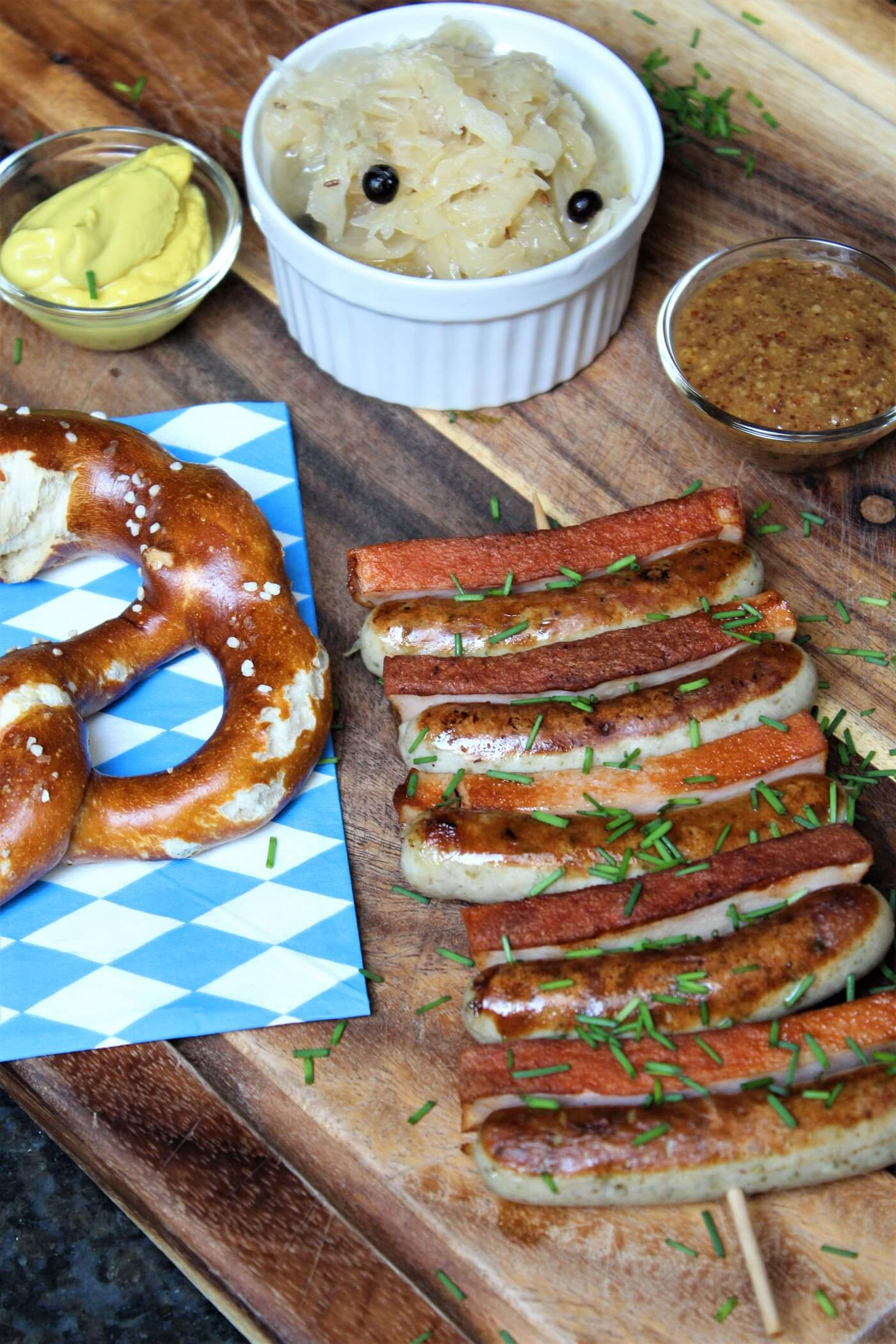 bayerisches schaschlik - hochkant - die frau am grill