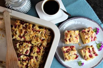 butterkuchen mit rhabarber rezept - die frau am grill