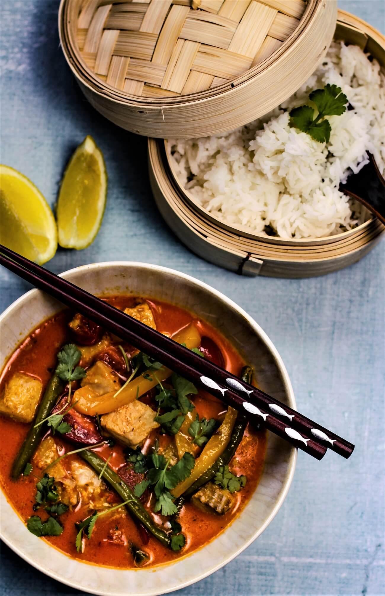 curry mit fisch - die frau am grill