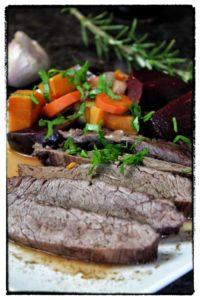 geschmortes flank steak hochkant 2 - die frau am grill