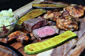 grillen im backofen - die frau am grill