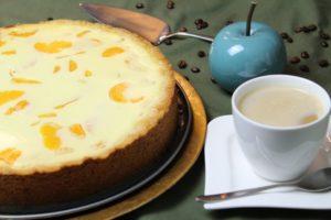 kaesekuchen mit mandarinen - die frau am grill