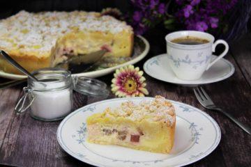kaesekuchen mit rhabarber rezept - die frau am grill