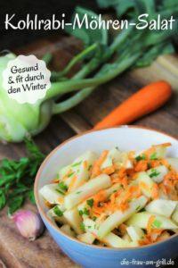 kohlrabi moehren salat - pinterest - die frau am grill