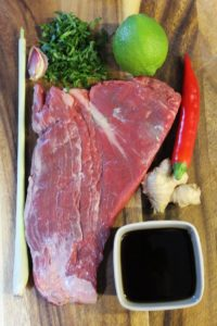 mariniertes flank steak - die frau am grill
