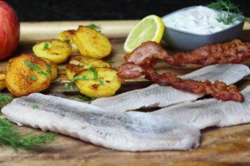 matjesfilets mit bratkartoffeln und speck - die frau am grill