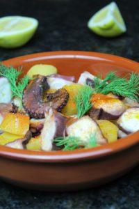 oktopus rezept - die frau am grill