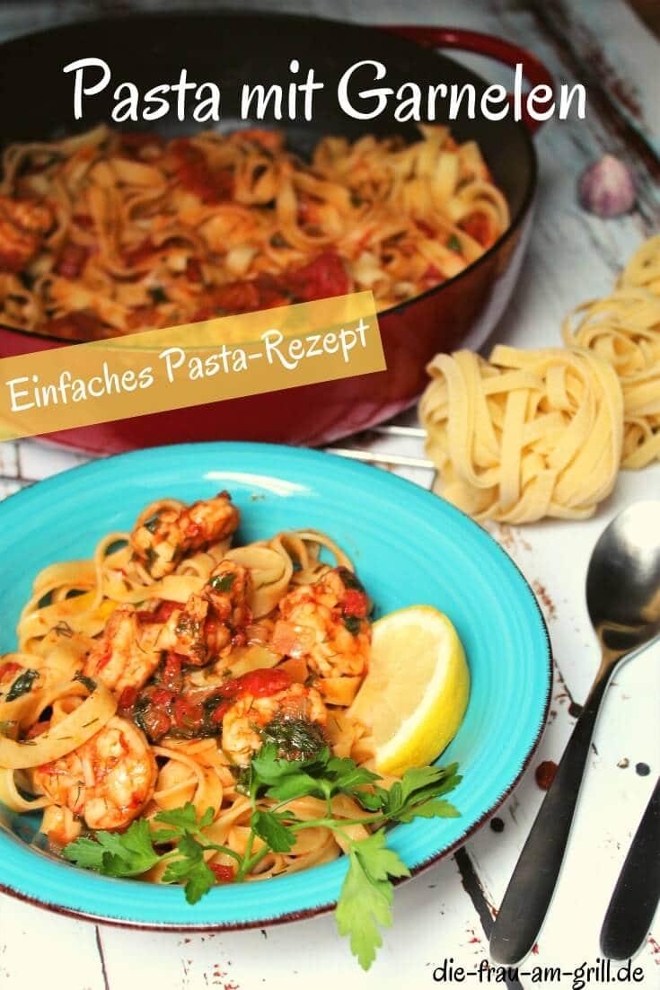 pasta und garnelen - pinterest - die frau am grill