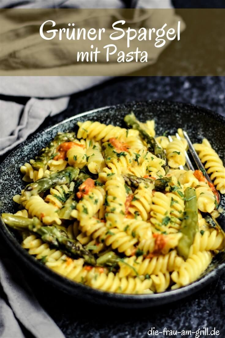 pasta mit gruenem spargel - pinterest