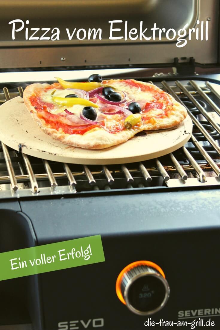 pizza vom elektrogrill - pinterest - die frau am grill