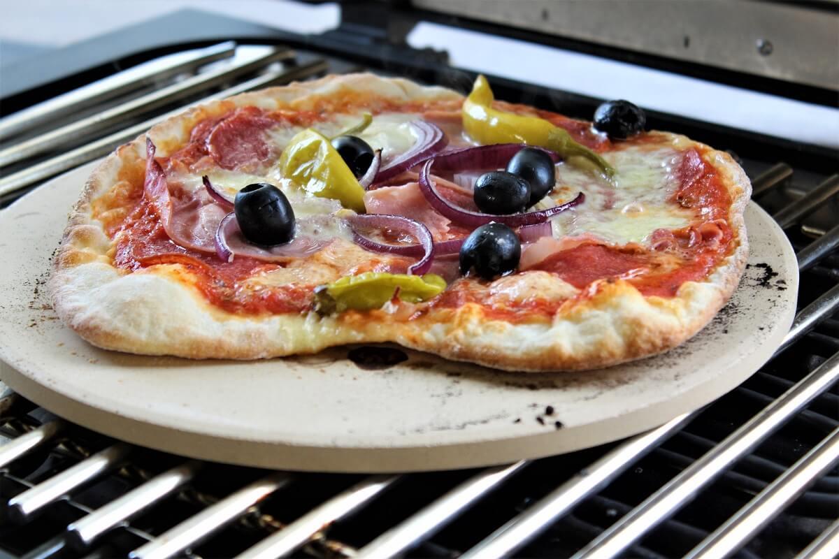 pizza vom elektrogrill