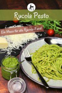 rucola pesto - rezept - pinterest - die frau am grill