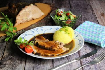 schweinenacken im braeter - rezept - die frau am grill