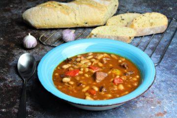 serbische bohnensuppe rezept - die frau am grill
