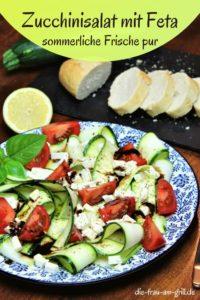 zucchinisalat mit feta - rezept - pinterest - die frau am grill