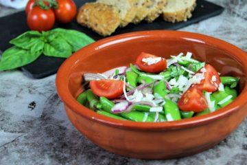 zuckerschoten salat - rezept - die frau am grill