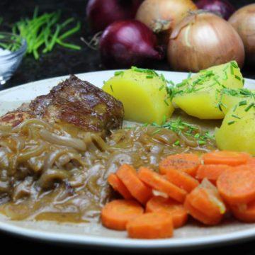 zwiebelfleisch rezept - die frau am grill